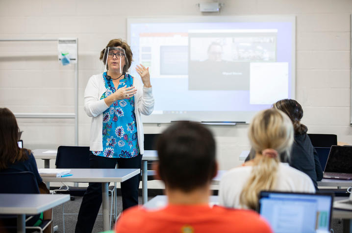 An education course utilizing upgraded classroom technology. Pete Comparoni | UKphoto