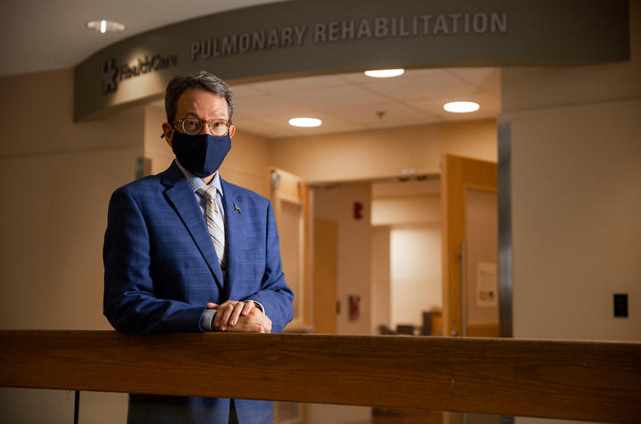 Bryan Collins, supervisor of UKHC Pulmonary Diagnostic Laboratory & Pulmonary Rehabilitation