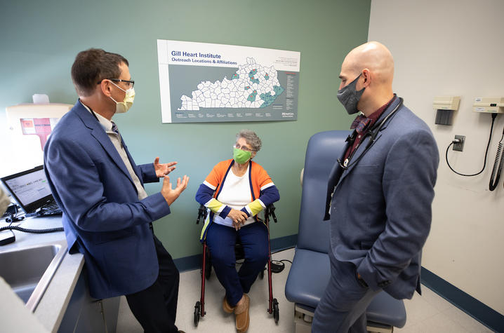 Dr. Aaron Hesselson and Dr. Andrew Kolodziej, UKHC Gill Heart & Vascular Institute.