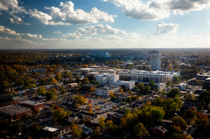 Photo of Downtown and campus