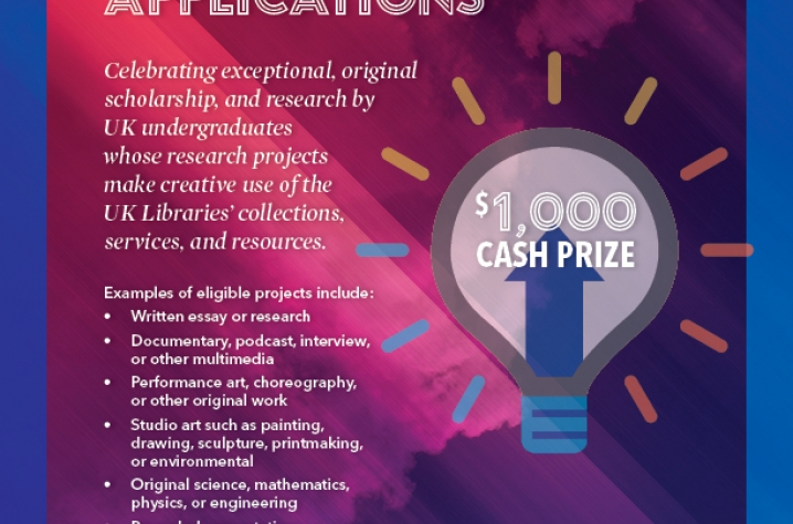 2016 UK Libraries Dean's Award for Excellence in Undergraduate Scholarship announcement
