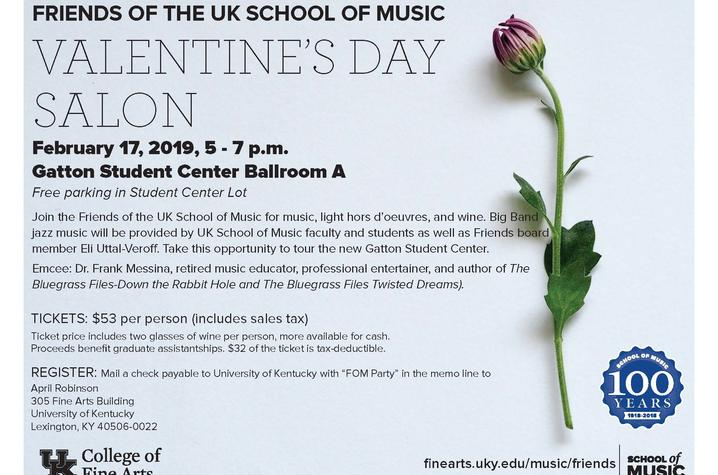 photo of Friends of Music Valentine's Day Salon poster