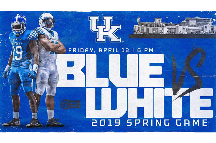 photo of 2019 Blue-White game web banner
