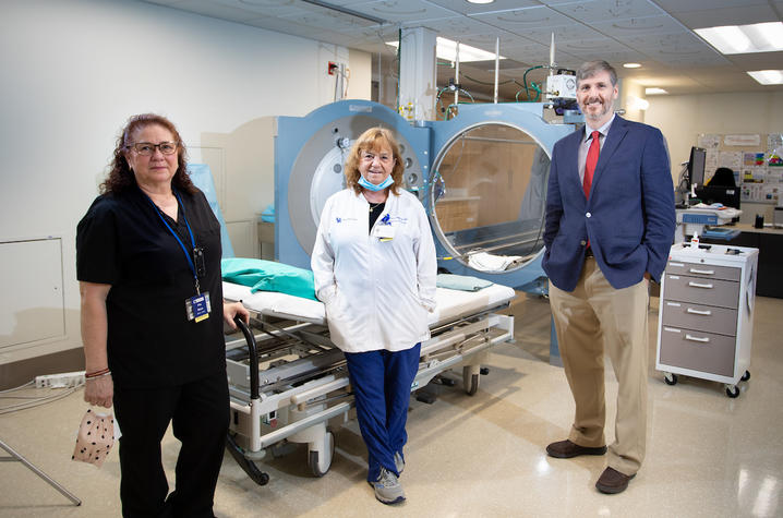 UKHC research team explains use of HBO treatment for patients with traumatic brain injury.