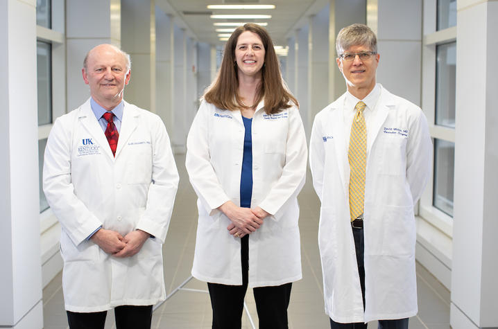 Dr. Alan Daughtery, Dr. Mary Sheppard, and Dr. David Minion will lead the Saha Aortic Center