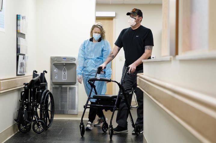 Image of Dave at pulmonary rehab