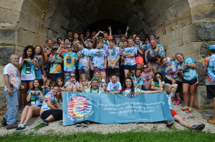 Gettler and Gipson volunteered at Camp Hendon, a summer camp for children with T1D | Photo courtesy of Megan Cooper