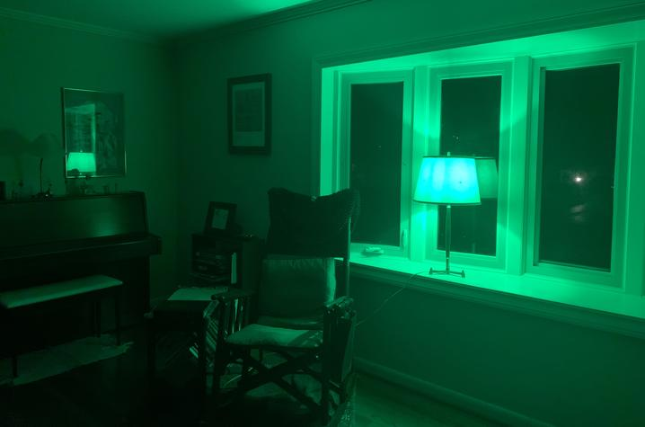 "photo of green light in window from ""In This Together"""
