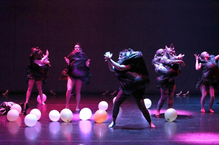 "photo of dancers performing Anthony Alterio's ""Road of Excess"""