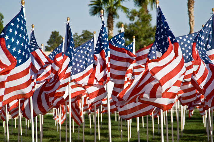 photo of American flags