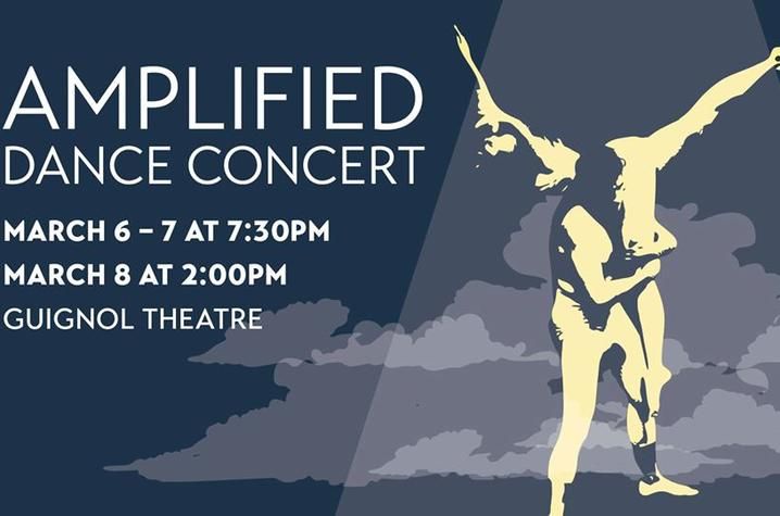 "photo of FB banner for ""Amplified"" dance concert"
