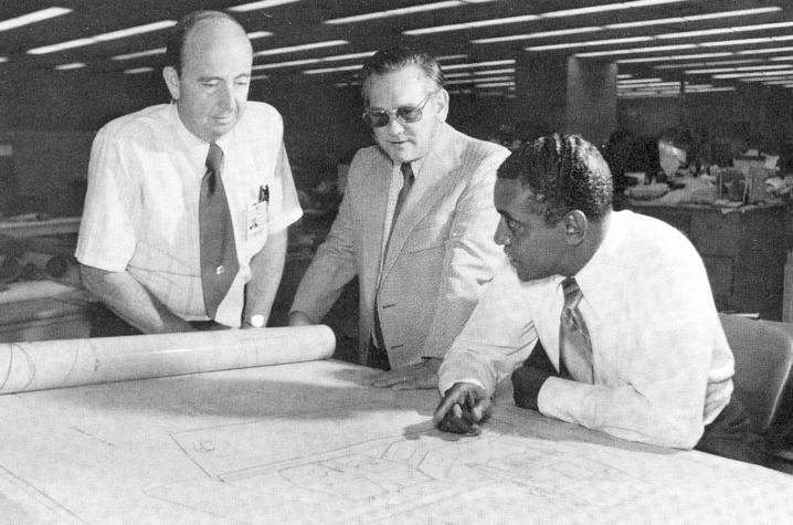 Charles Lowry and engineers