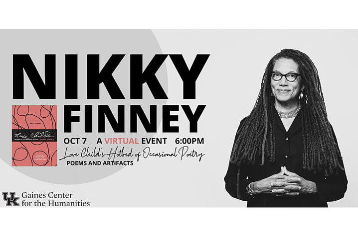 photo of banner for 2020 Bale Boone Symposium featuring Nikky Finney