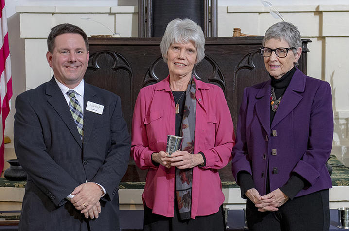 photo of Carol Boggess (center) with Kentucky History Award