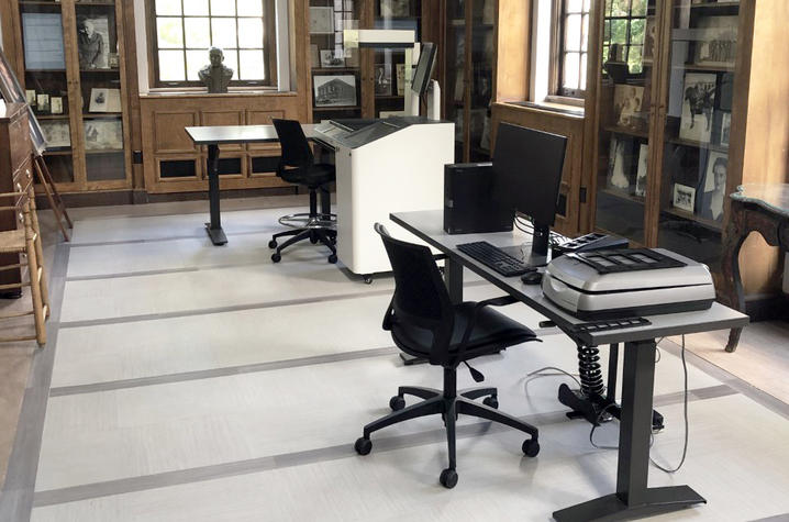 photo of new equipment in Breckinridge Research Room