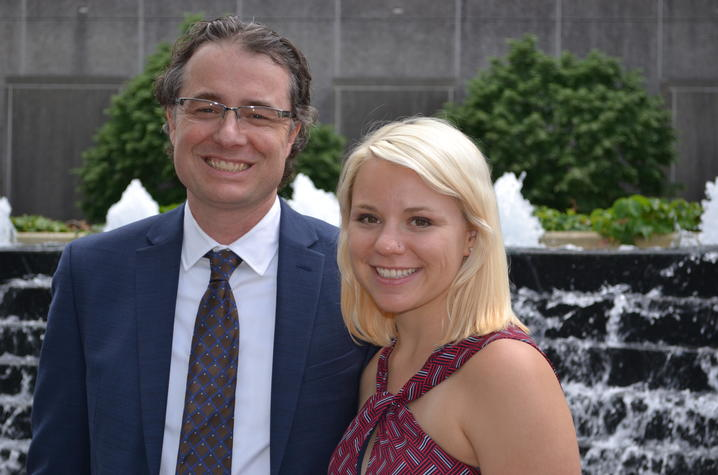 Photo of Drs. Matthew Gentry and Kathryn Brewer
