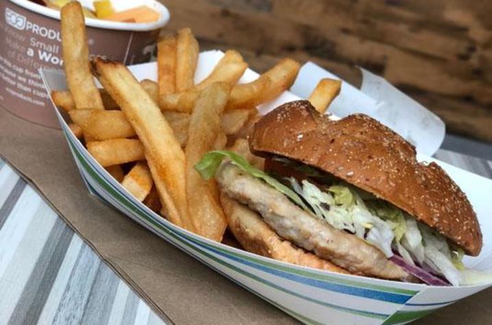 Photo of turkey burger