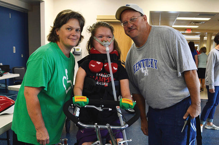Photo of Danielle Pruitt and her parents