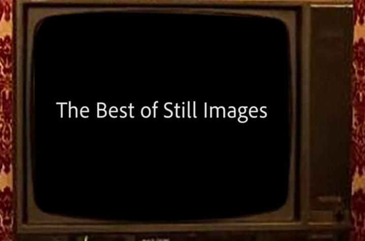 photo of Digital Media Blast - The Best of Still Images video open of old school TV