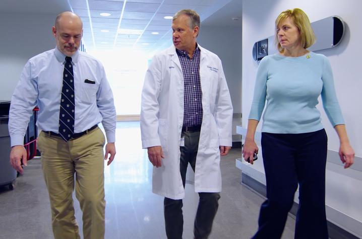 Photo of Chris Norris, Doug Andres and Kathryn Saatman at the University of Kentucky