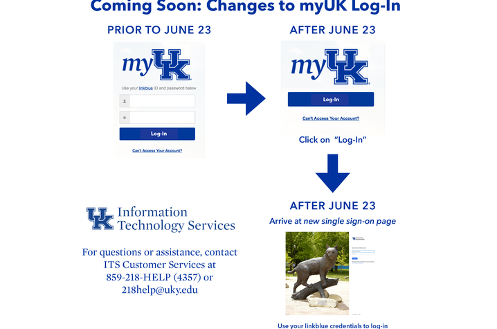 Image of myUK screen and login