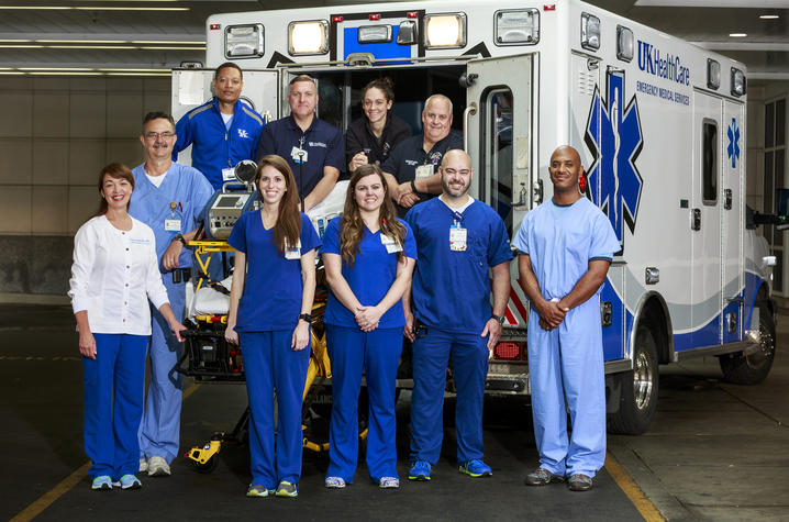 Photo of the UK HealthCare Adult ECMO Transport Team