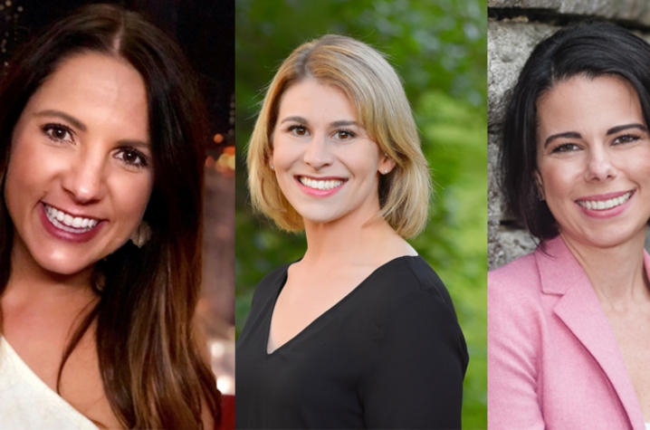 photos of Dr. Allison Mecca, Dr. Diana J. Tieger and Dr. Ashley Soloman