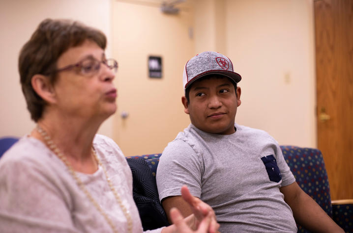 Photo of Patient Zack Price with his mother Nina