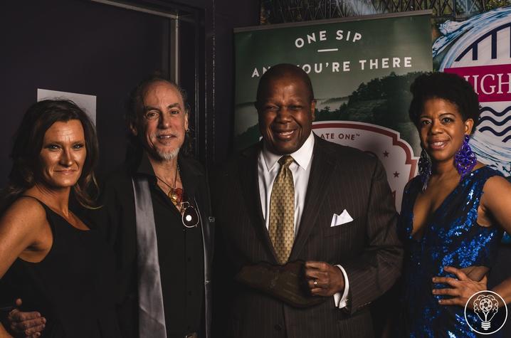 photo of David McClean, Everett McCorvey and others at Lexington Music Awards
