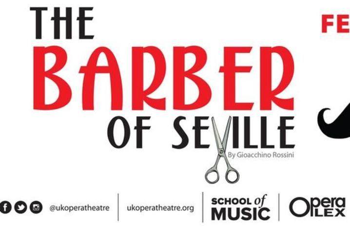 "photo of Facebook banner for UK Opera Theatre's ""The Barber of Seville"""