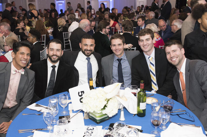 2017 Feast on Equality attendees John Eric Novosel-Lingat, Weston Lyons, Raul Vasquez, James Smith, Josh Combs and Nathan Novosel.