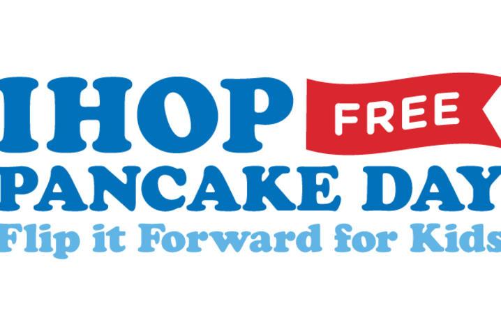 graphic advertising free pancake day at IHOP
