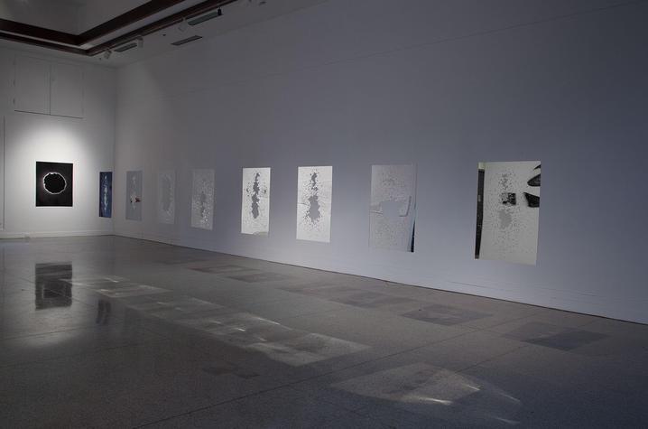 "photo of work of shattered glass in ""Silhouettes"" by Garrett Hansen"