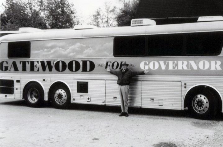 photo of Gatewood Galbraith and bus