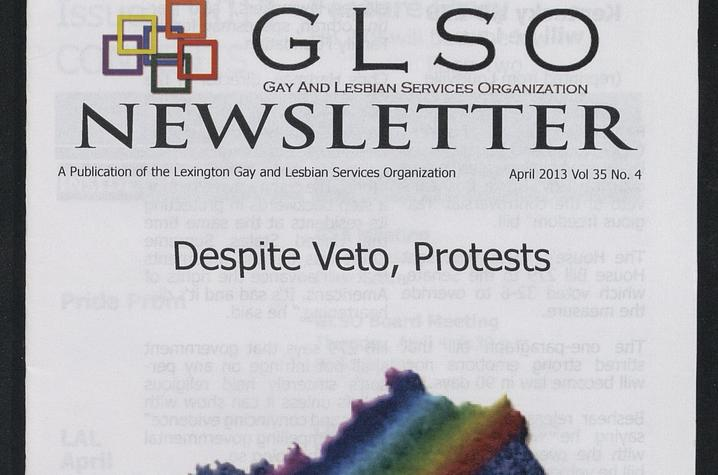 photo of cover of GLSO Newsletter - April 2013