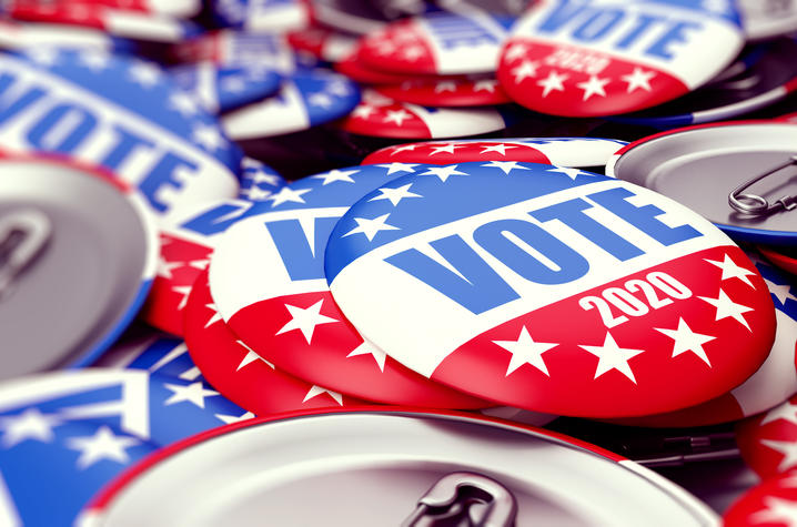 Getty Image of Voting Pins