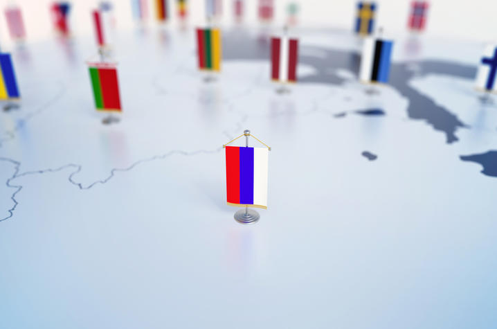Getty Image of Russian Flag