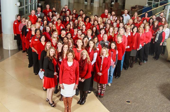 """Photo from the 2015 """"Gill Goes Red"""" celebration"""