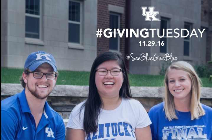 students on steps for Giving Tuesday photo