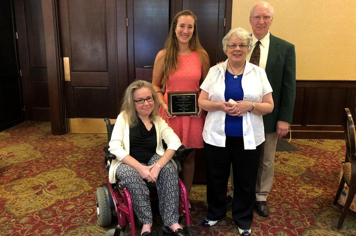 photo of Kathy Sheppard-Jones, Lindsey Woosley, Susan Burberry, Rev. Clyde David Burberry