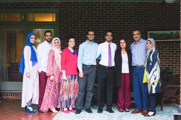 photo of Abdallah family - Hadeel, Kasen, Nima, Hanean, Bader, Taha, Nima, Younes and Maissa