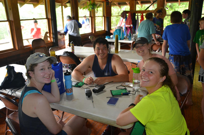 Gettler, Gipson and other volunteers at Camp Hendon | Photo courtesy of Megan Cooper