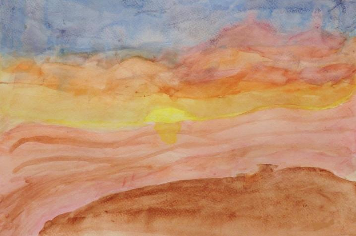 "artwork of sun from ""Inspiring Attempts"" exhibtion"