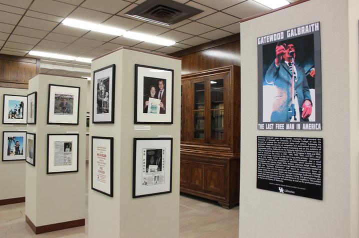 photo of items on display in Gatewood Galbraith exhibit
