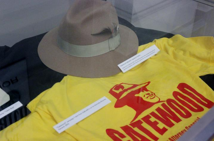 photo of campaign shirt for KY Attorney General and a Gatewood Galbraith fedora