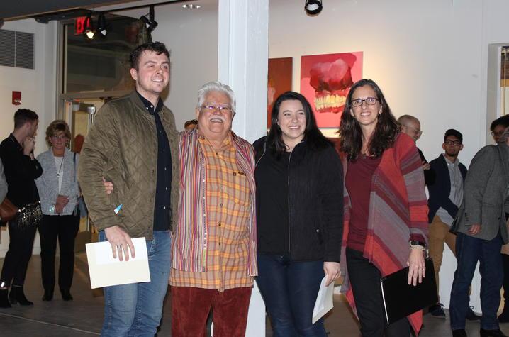 photo of Alex Lewis, Arturo Alonzo Sandoval, Aya AlJabiri and Ruth Adams - 2017 Carey Ellis Show