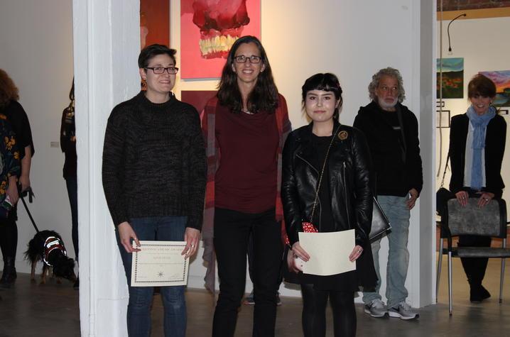 photo of Alexis Deane, Ruth Adams and Nicollete Lim - 2017 Carey Ellis Show