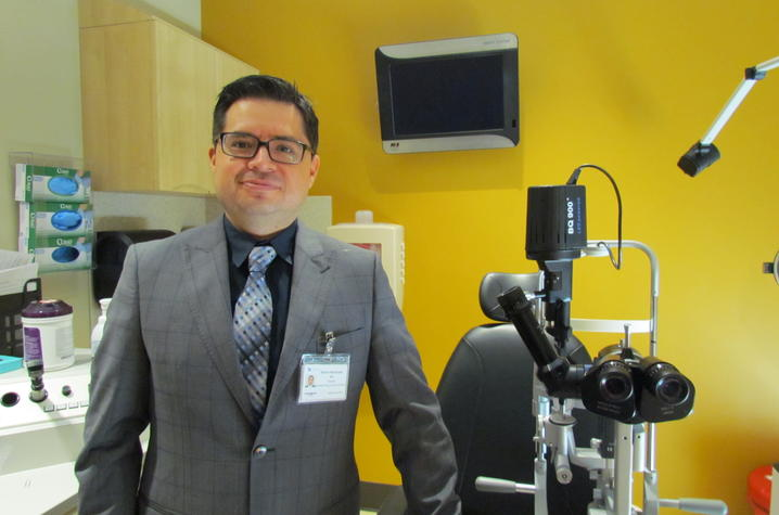 Dr. Ramiro Maldonado, assistant professor of ophthalmology