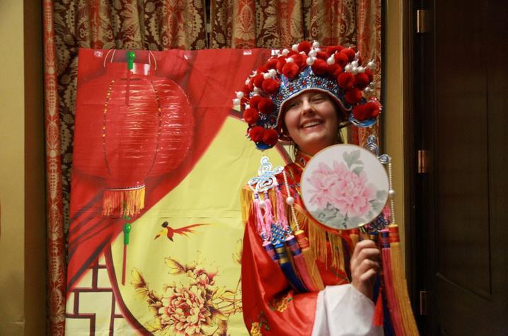 photo of student in costume at Confucius Institute Student Night