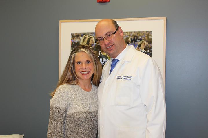 Dr. Christian Lattermann and Jennifer Thomas